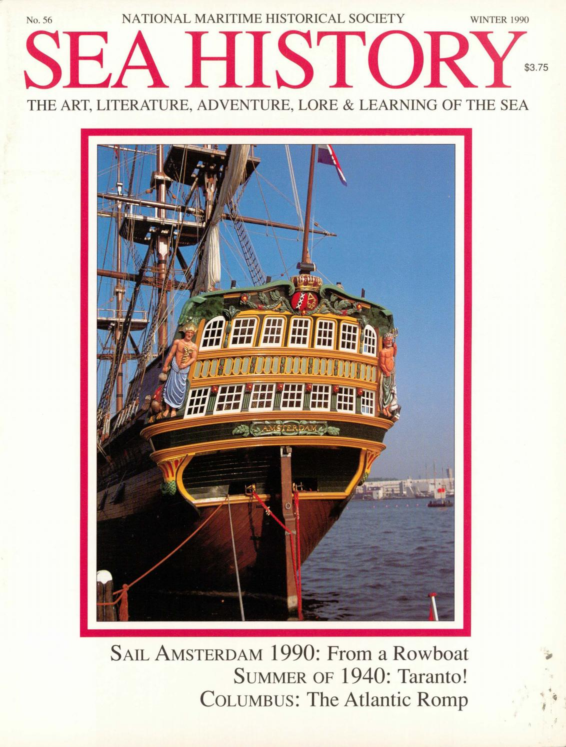 Sea History 056 Winter 1990 1991 By National Maritime Historical Kabel Busi Splitfire Tutup Cangklong Society Magazine Issuu