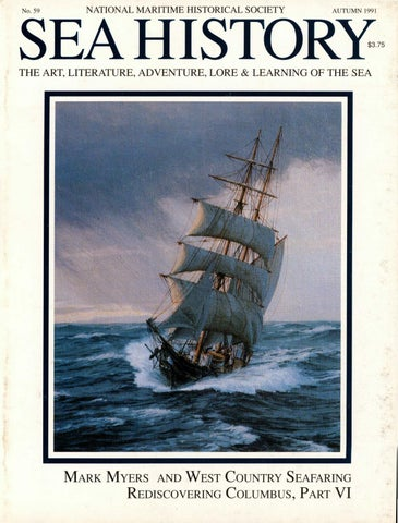 Sea History 059 Autumn 1991 By National Maritime Historical