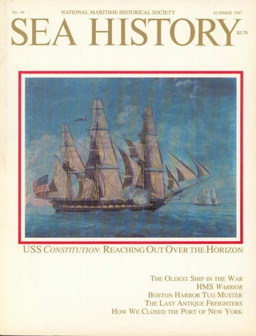 Sea History 044 Summer 1987 By National Maritime