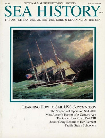 Sea History 083 Winter 1997 1998 By National Maritime Historical