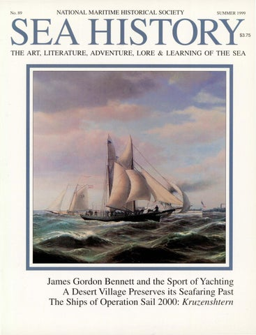 Sea History 089 Summer 1999 By National Maritime Historical
