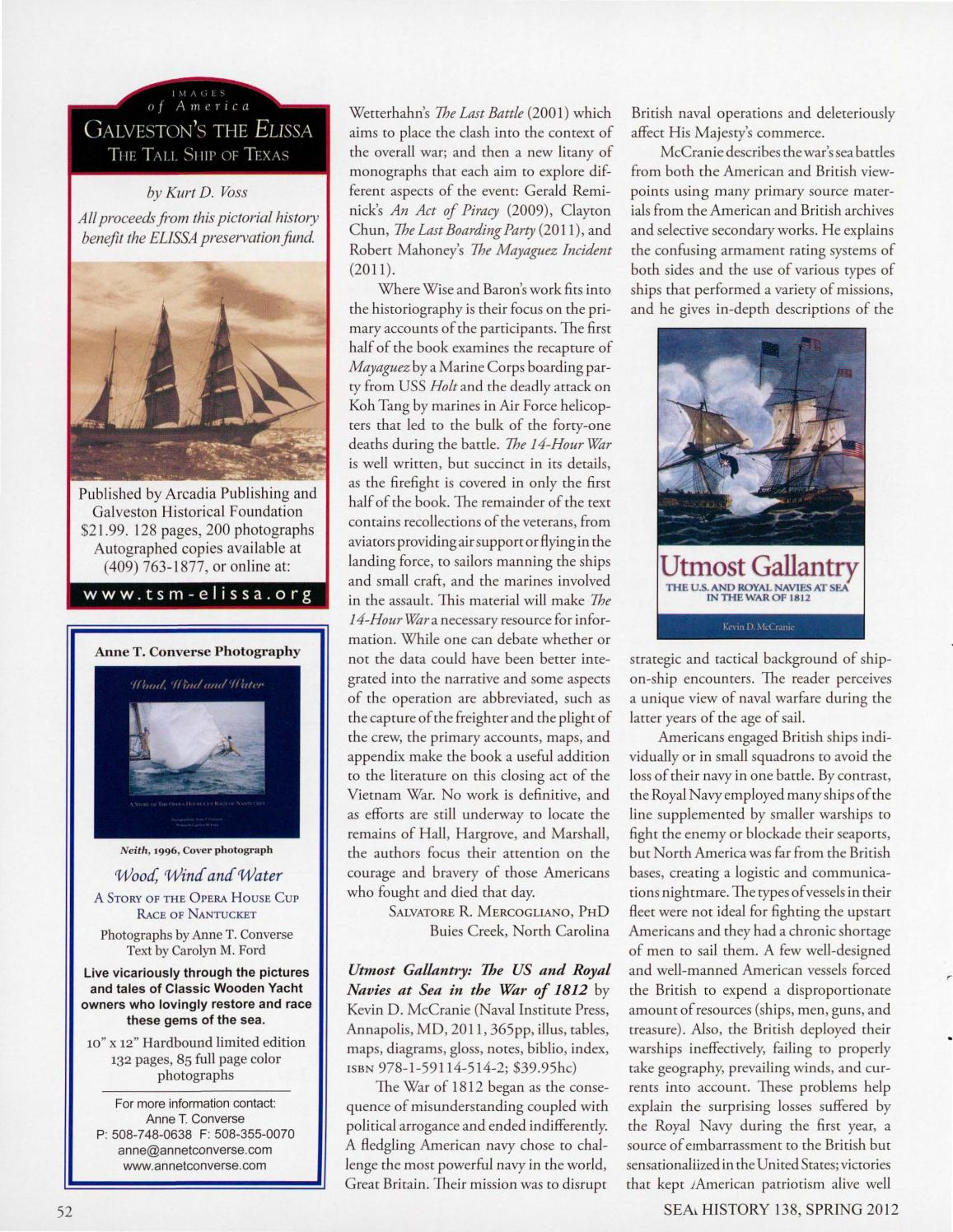 Sea History 138 - Spring 2012 by National Maritime Historical Society & Sea  History Magazine - issuu