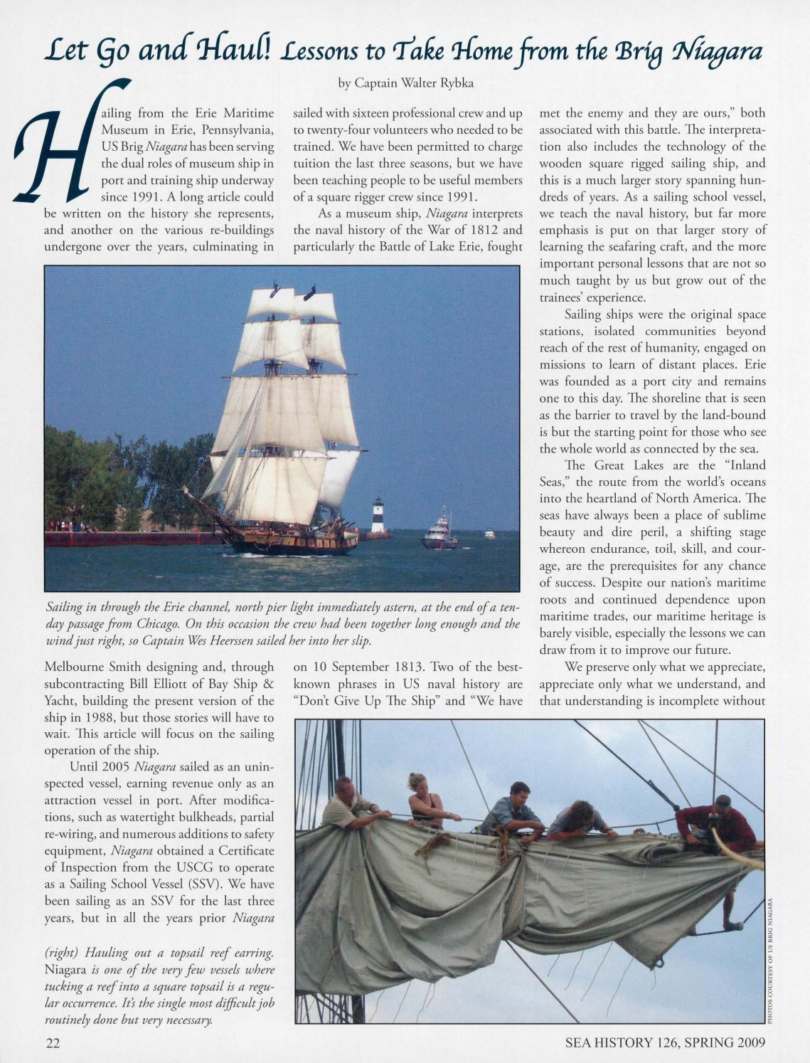 Sea History 126 Spring 2009 By National Maritime Historical