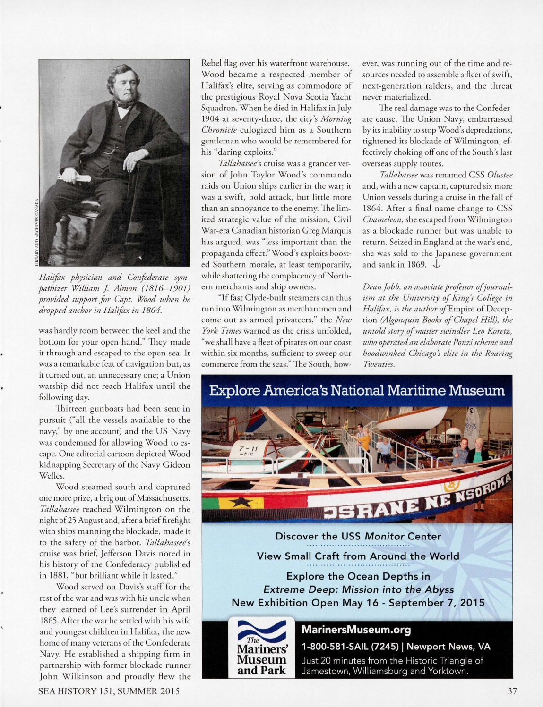 Sea History 151 - Summer 2015
