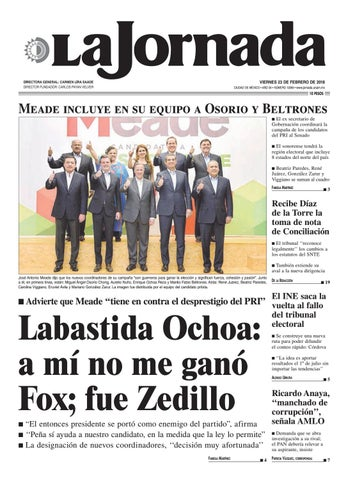 detailed look c85bb b4711 La Jornada, 02 23 2018 by La Jornada  DEMOS Desarrollo de Medios SA ...