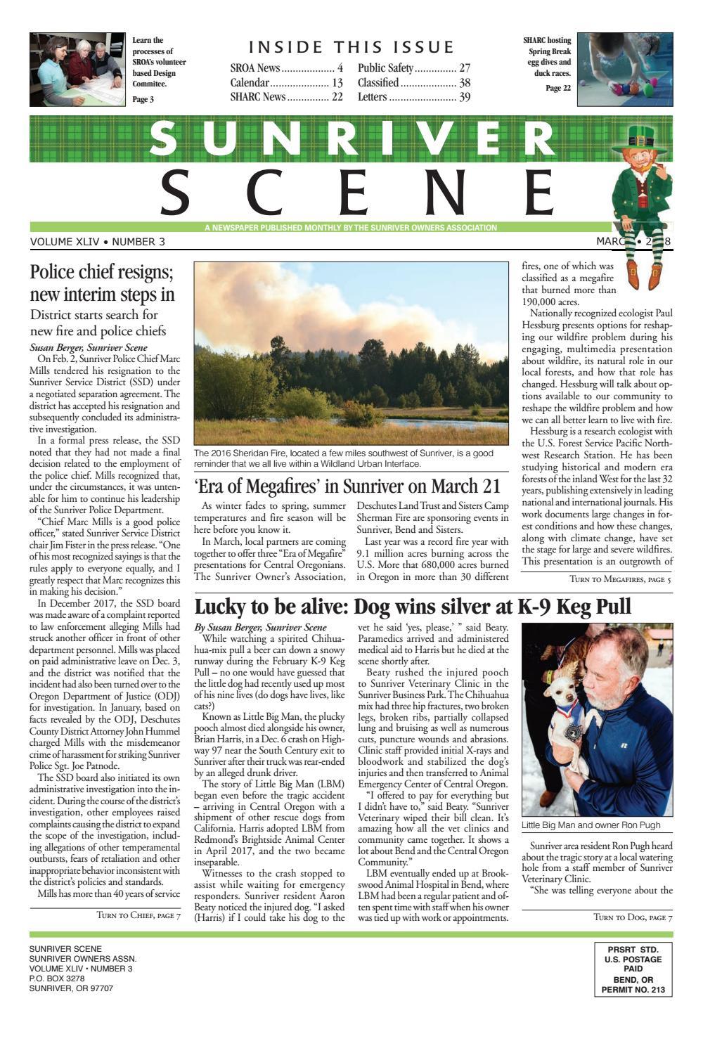 4d48593dfcc4 March 2018 Sunriver Scene by Sunriver Scene - issuu