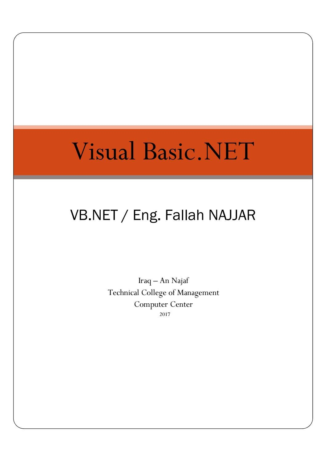 كتاب Visual Basic by جرب و إستفد I Try&Profit - issuu