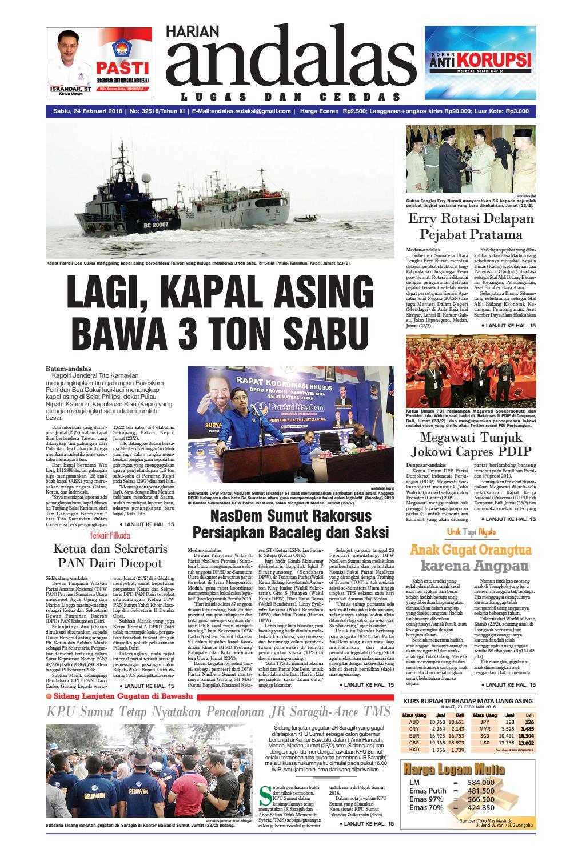 Epaper andalas edisi sabtu 24 februari 2018 by media andalas - issuu bd9e7460da