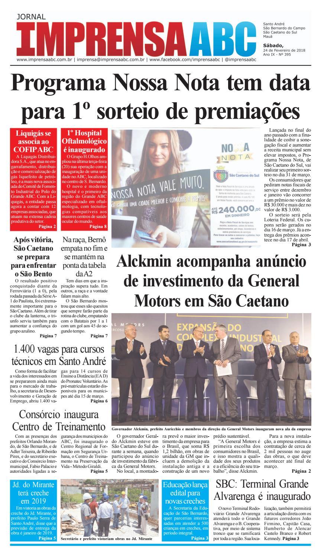 ac6abab3f9 Jornal Imprensa do ABC - Edição 395 by Jornal Imprensa ABC - issuu