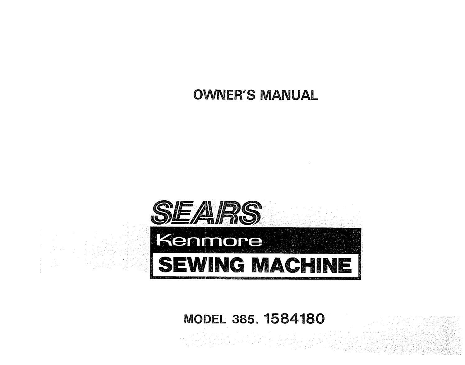 Kenmore 385 1584180 Sewing Machine User Manual By David Mannock Issuu Parts Diagram