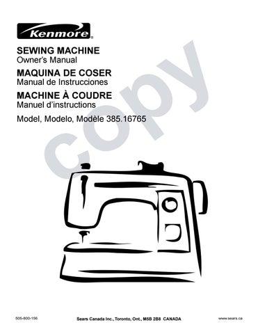 Kenmore 40 40 Sewing Machine User Manual By David Mannock Issuu Stunning Sears Ca Sewing Machines