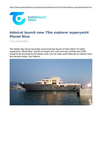 Super Yacht Times Admiral Launch New 75m Explorer Superyacht