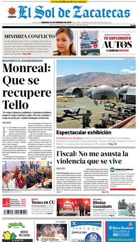 2022583f99 El Sol de Zacatecas 24 de febrero de 2018 by El Sol de Zacatecas - issuu