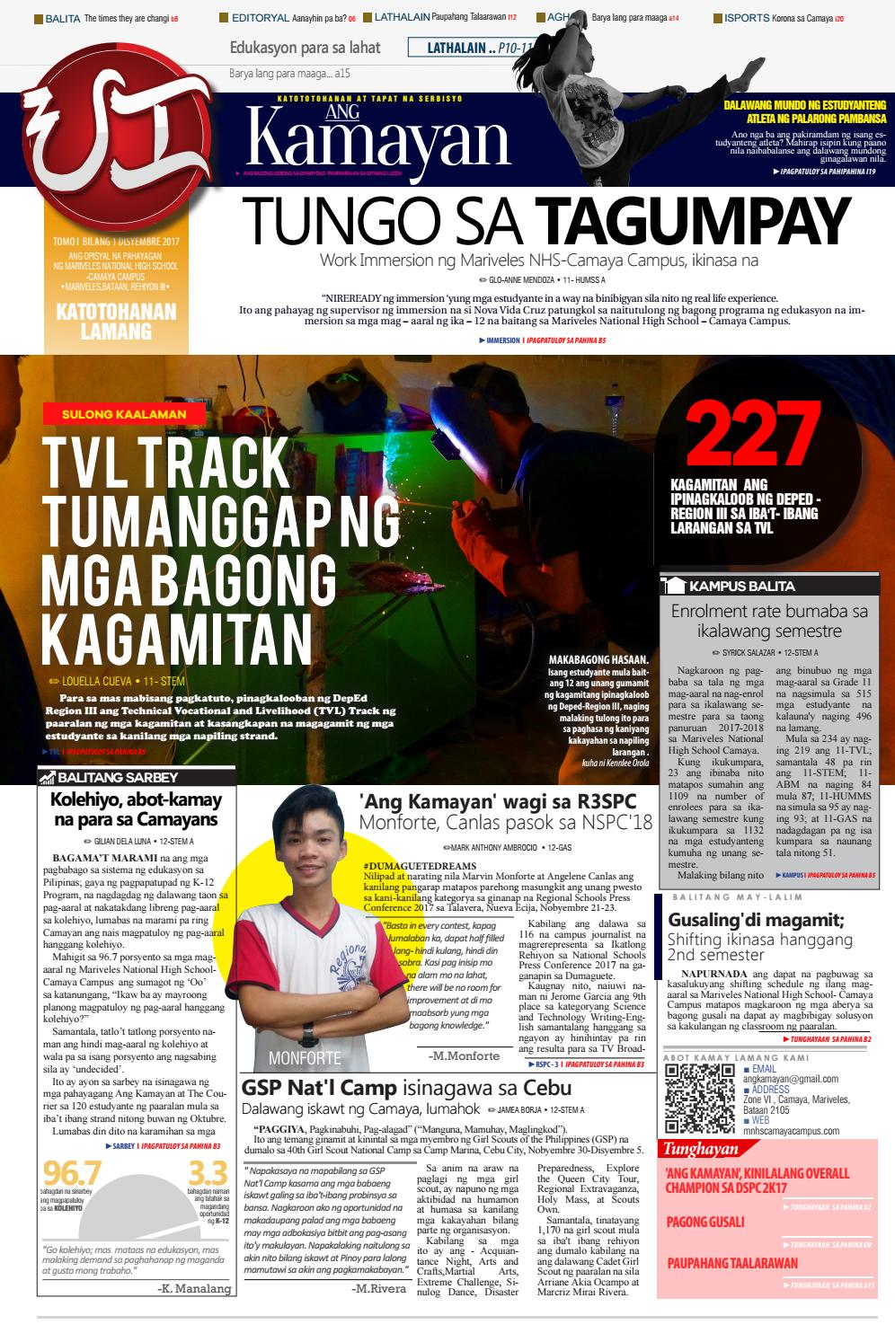 Ang Kamayan Tomo I Bilang I - 2017 issue by Mark Anthony