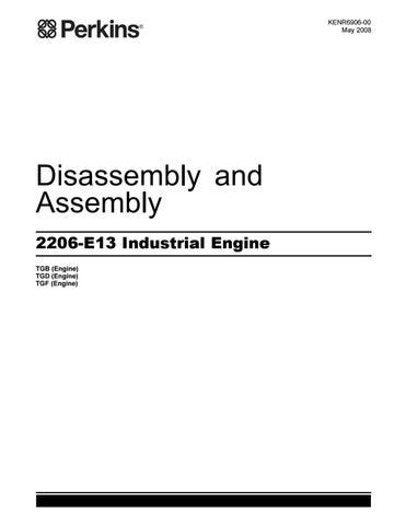 perkins 2200 series 2206 e13 industrial engine model tgf service rh issuu com