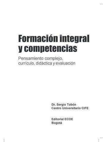 Libro Formación Integral Y Competencias 4ta Edicion By Cife