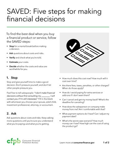 Affordable Financial Product