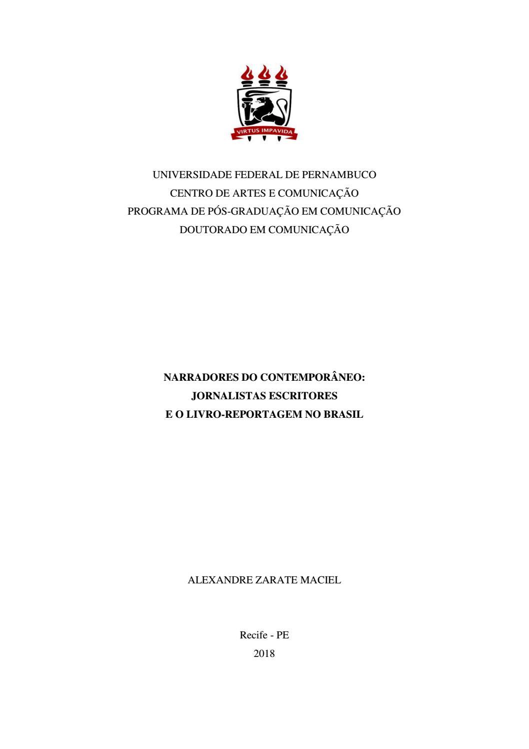 6307a48fd6 Tese alexandre maciel livro reportagem by Edson Silva - issuu