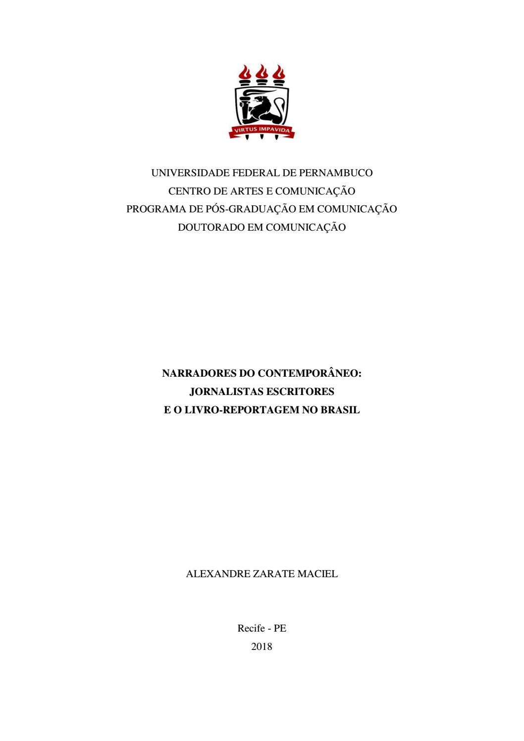 43c78dde2883c Tese alexandre maciel livro reportagem by Edson Silva - issuu