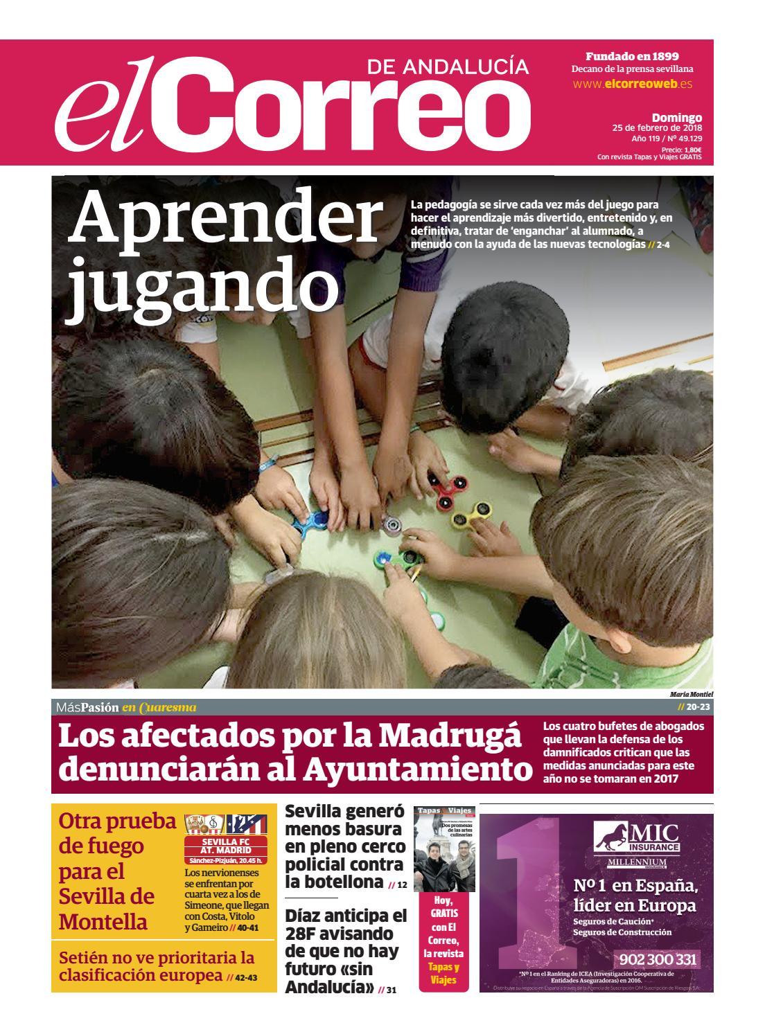 25.02.2018 El Correo de Andalucía by EL CORREO DE ANDALUCÍA S.L. - issuu 30472d3aea6