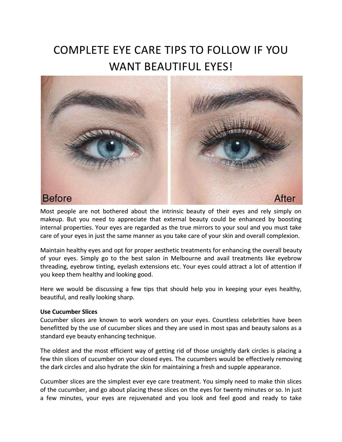Complete Eye Care Tips To Follow If You Want Beautiful Eyes – Play