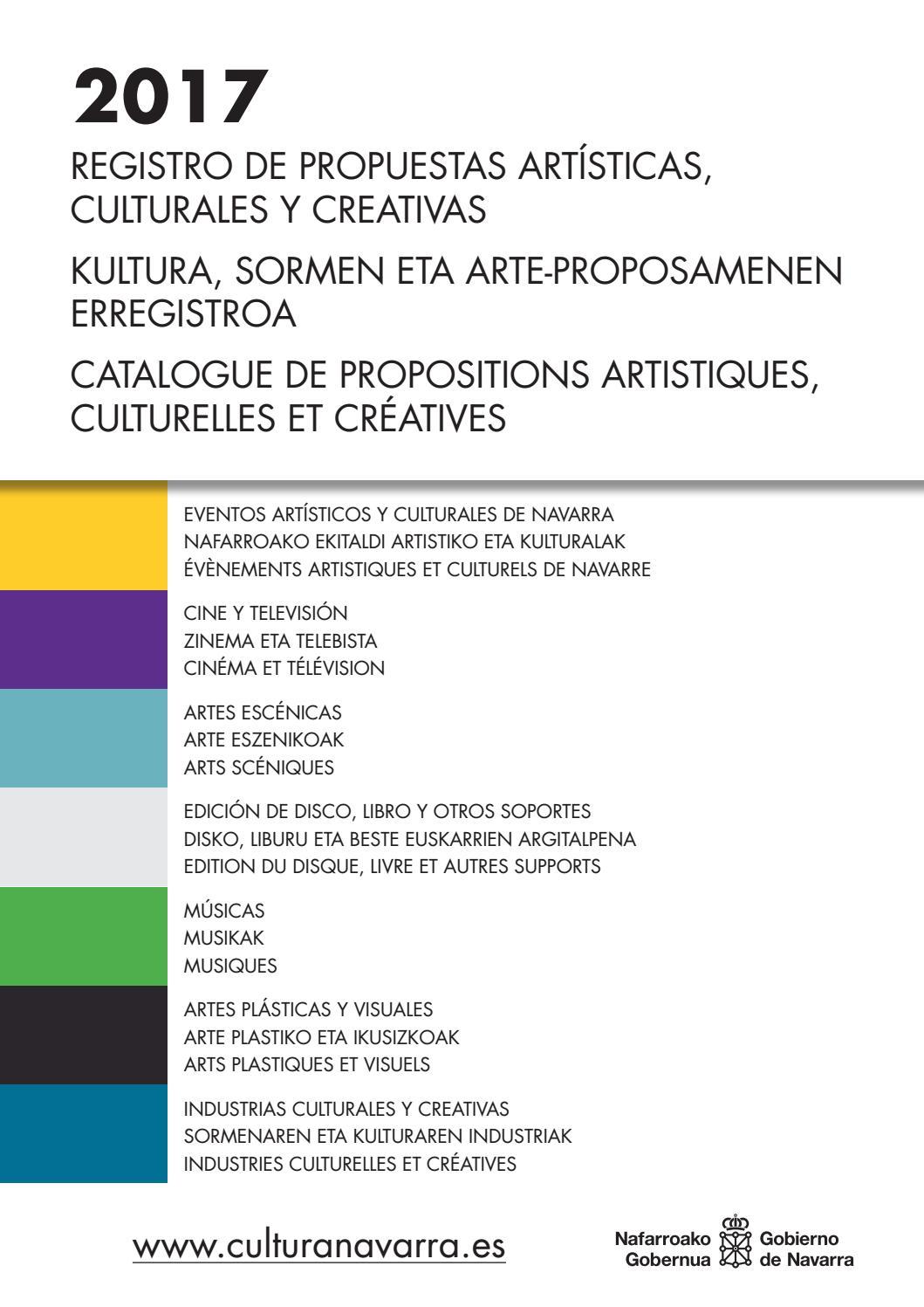Registro de artistas de Navarra 2017 by Cultura Navarra - issuu