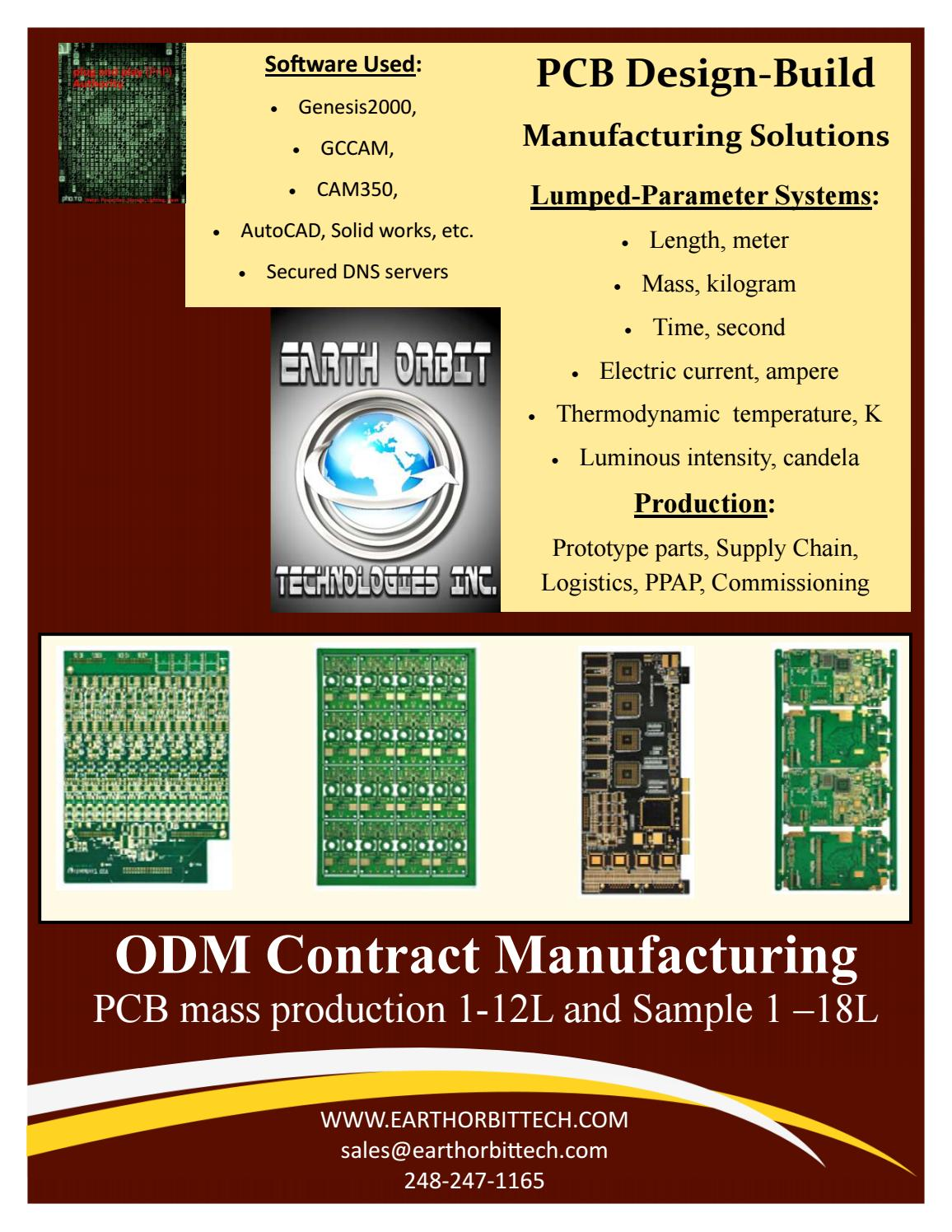 Lumped-Parameter PCB systems by Earth Orbit Technologies