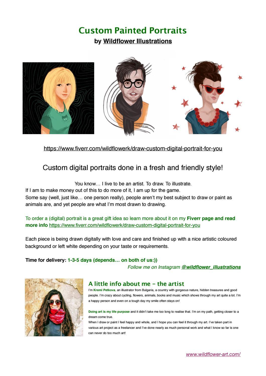 Digital portrait 1-3 people