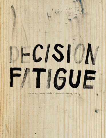Page 14 of Decision Fatigue