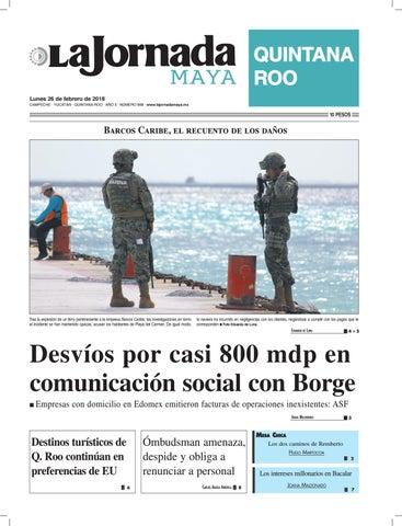 e8b744d5c60e4 La jornada maya lunes 26 de febrero de 2018 by La Jornada Maya - issuu