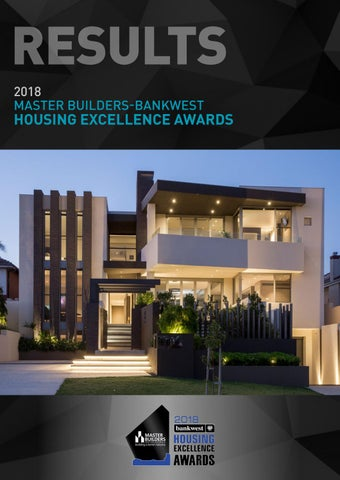2018 master builders bankwest housing excellence awards results by page 1 malvernweather Gallery