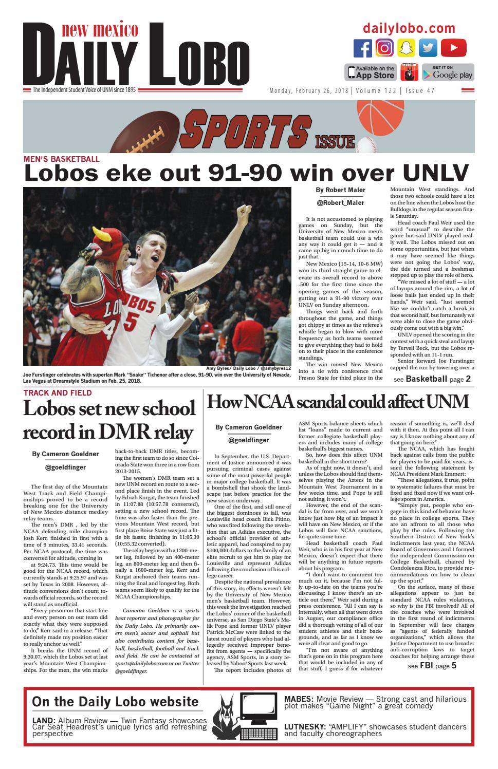Daily Lobo 02/26/2018 by UNM Student Publications - issuu