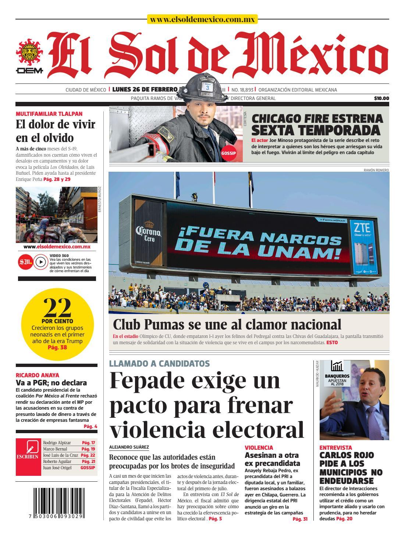 El Sol de México 26 de febrero 2018 by El Sol de México - issuu