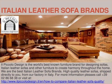 Italian Leather Sofa Brands By Publio