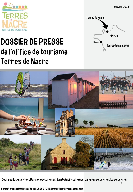 Dossier de presse terres de nacre 2018 by Office de Tourisme