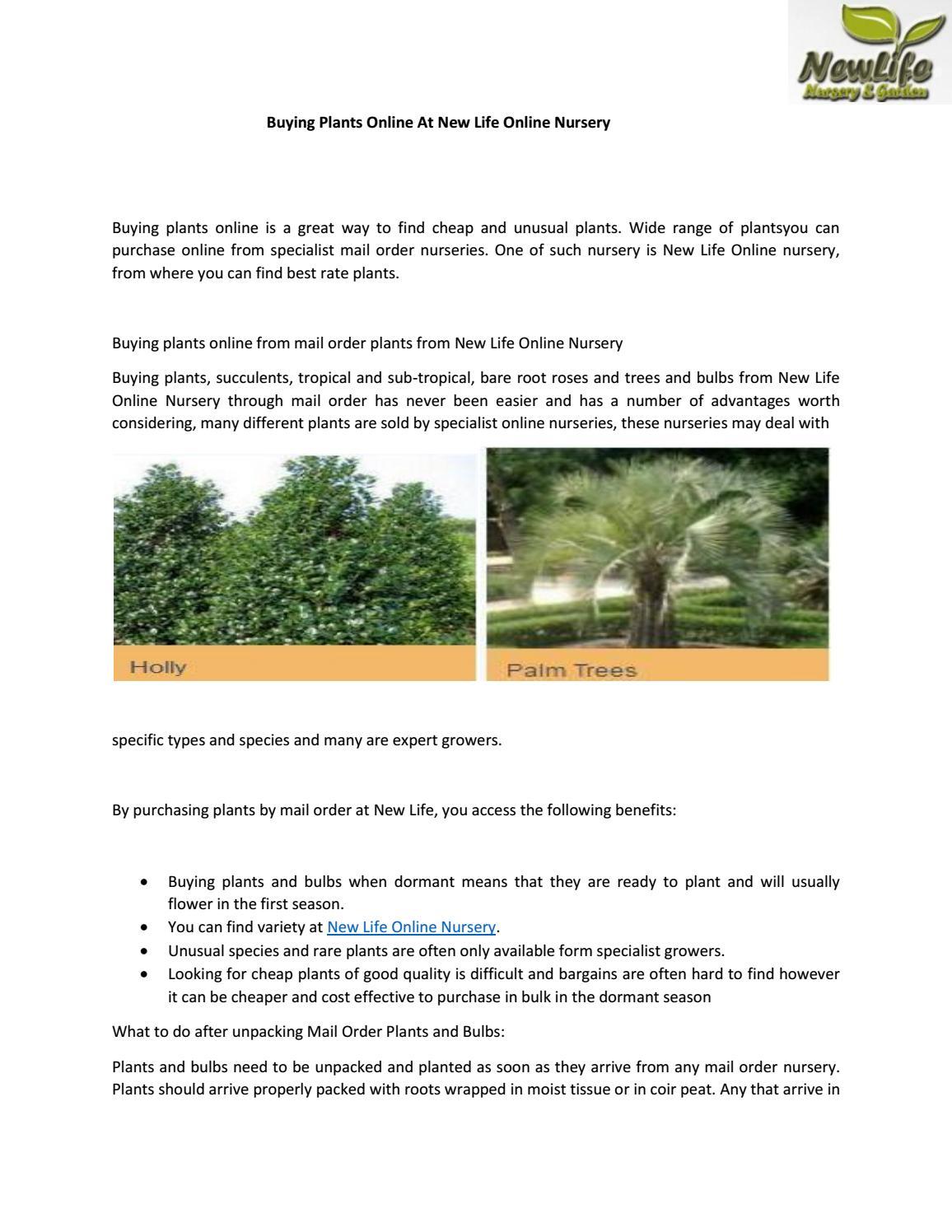 Ing Plants Online At New Life Nursery By Newlifenursery1 Issuu