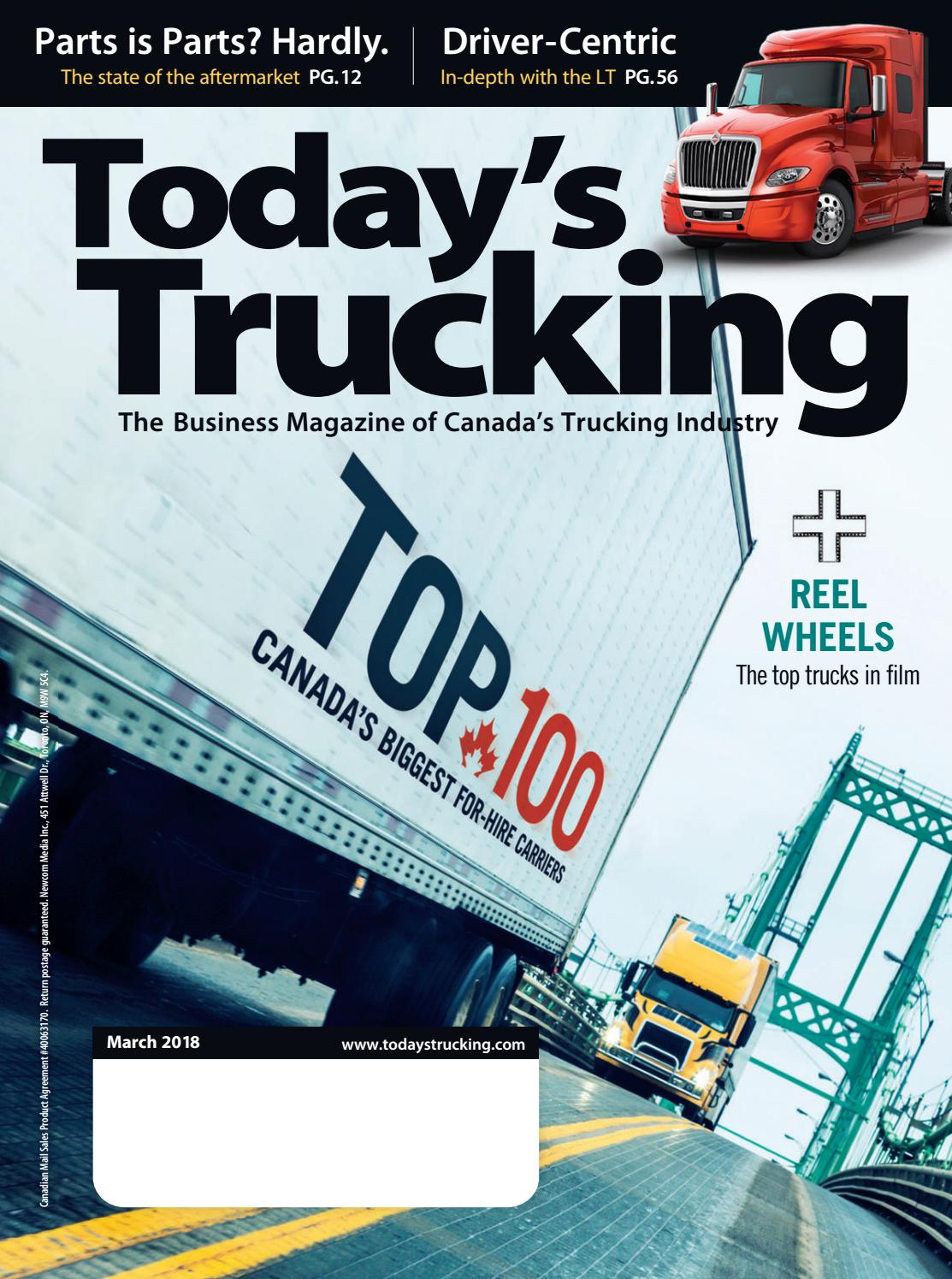 Today\'s Trucking March 2018 by Annex-Newcom LP - issuu