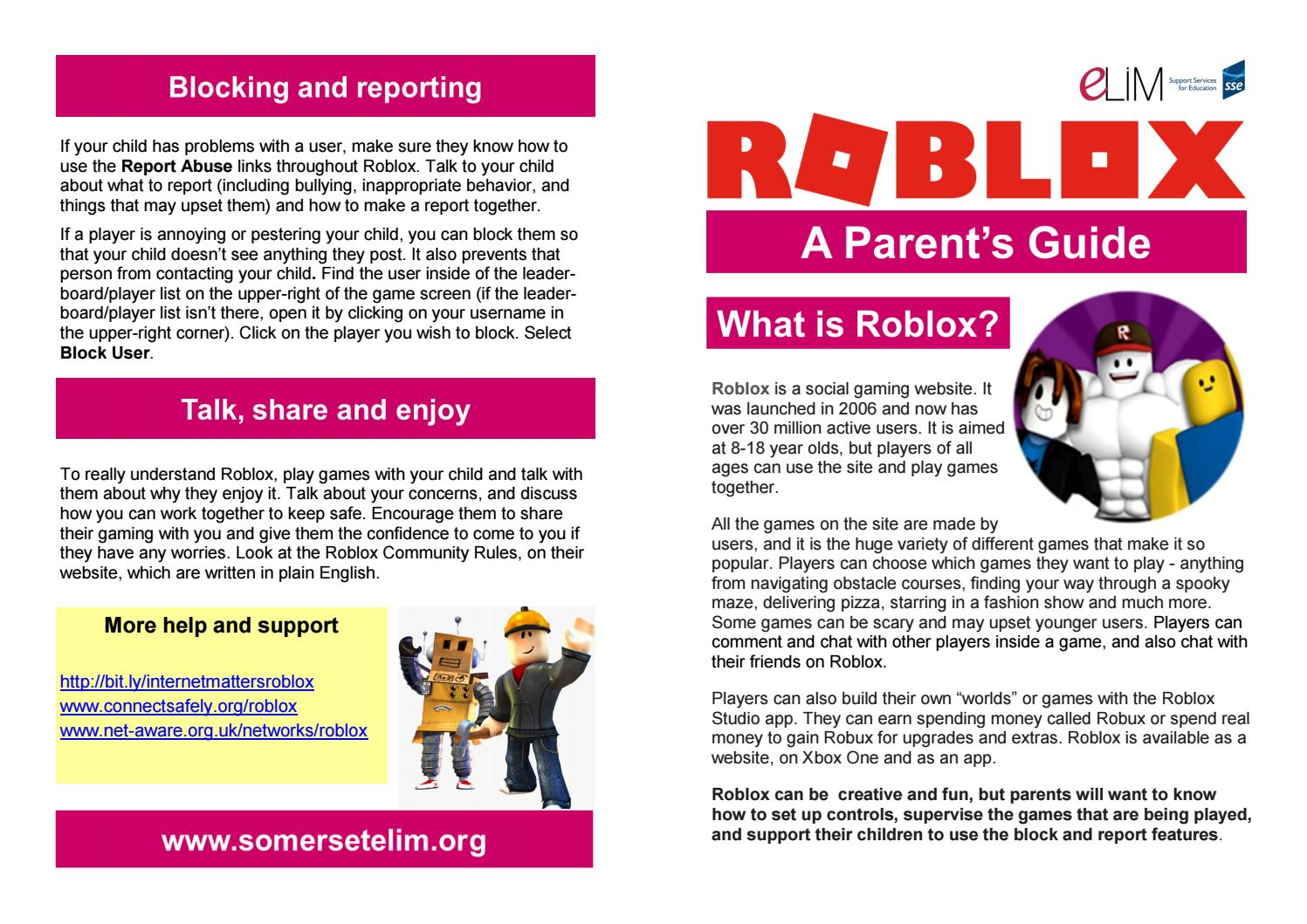 Roblox Support Number Uk Roblox Parents Guide Leaflet 2018 By Edgar Danmer Issuu