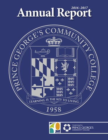 Prince George S Community College S 2016 2017 Annual Report