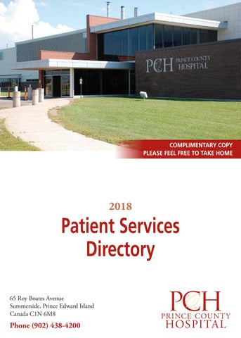 Prince County Hospital Patient Services Directory by Willow