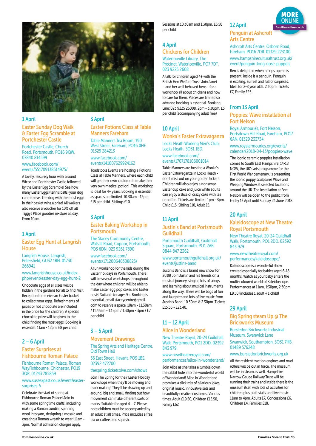 Families Solent East March-April 2018 Issue 75 by Families
