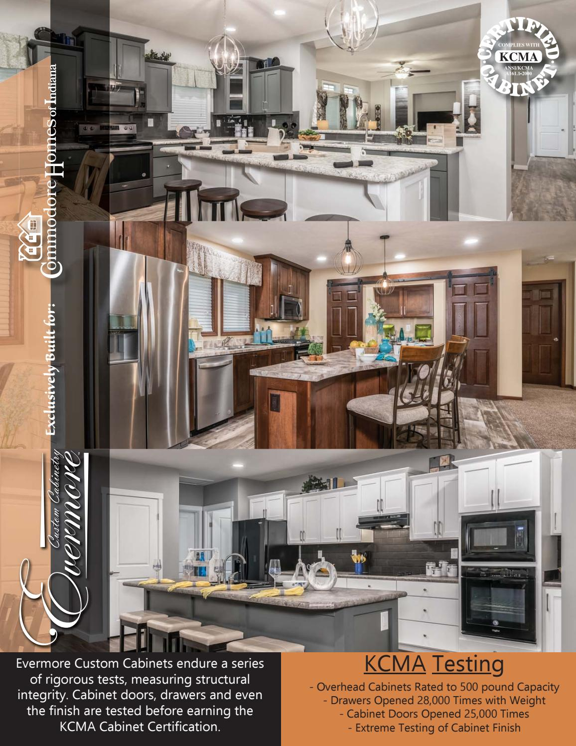 Commodore Homes Of Indiana Kcma Cabinetry Selections 2018