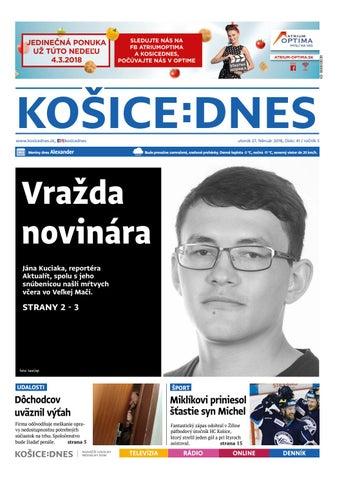 d4ffbab401 KOŠICE DNES 27.2.2018 by KOŠICE DNES - issuu