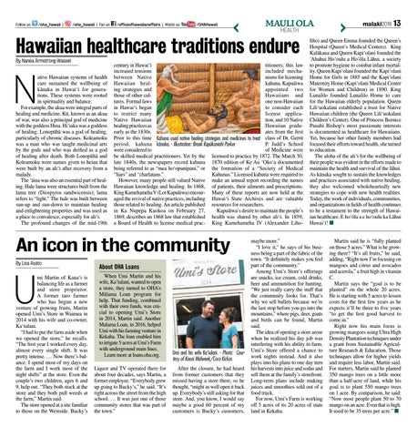 Page 13 of Hawaiian healthcare traditions endure