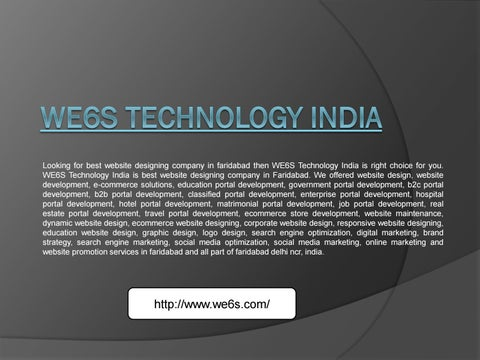 Web Design Faridabad We6s Technology India By We6s Technology India Issuu