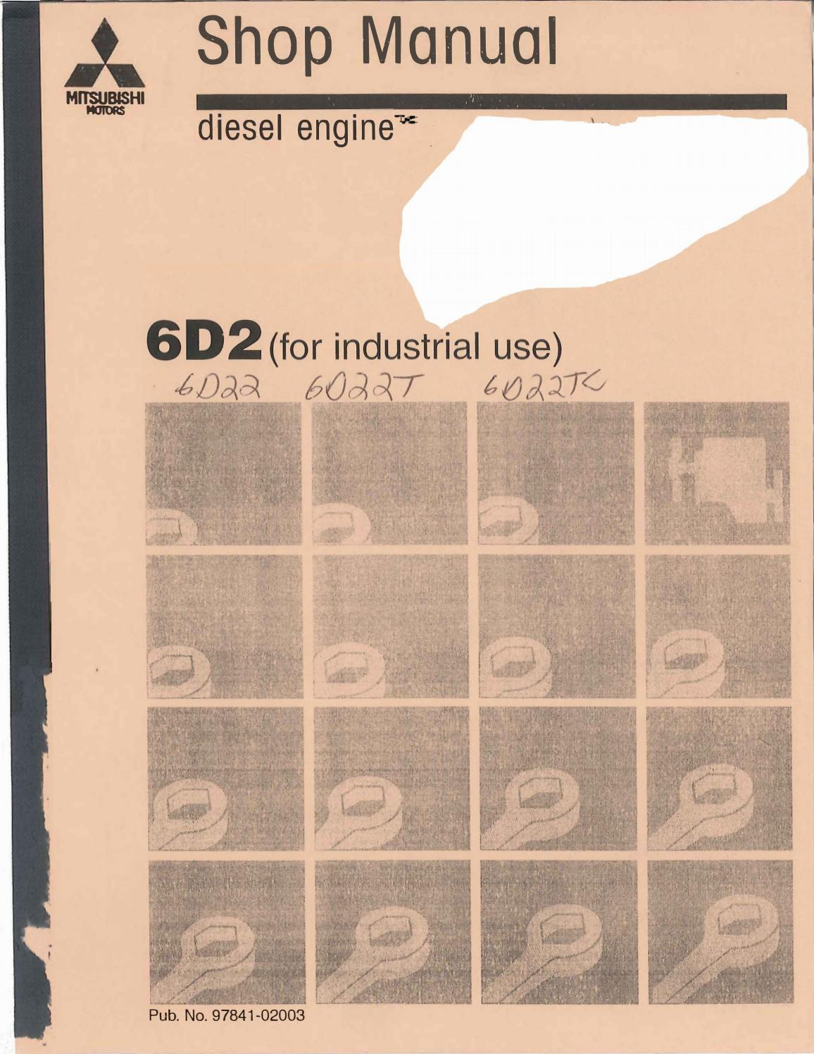 Mitsubishi 6d22 engine Manual