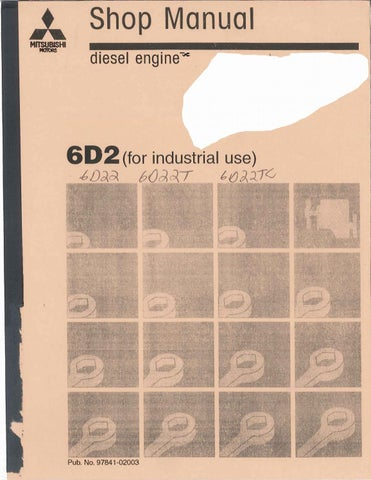 mitsubishi 6d22 6d22t 6d22tc engine service manual ii by rh issuu com Mitsubishi Eclipse Spyder mitsubishi 6d22 engine manual pdf
