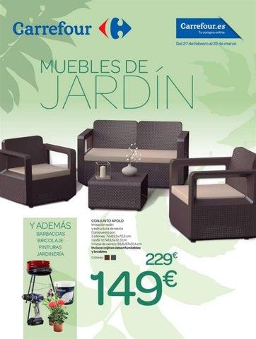 Catálogo carrefour muebles de jardin by Ofertas Supermercados - issuu