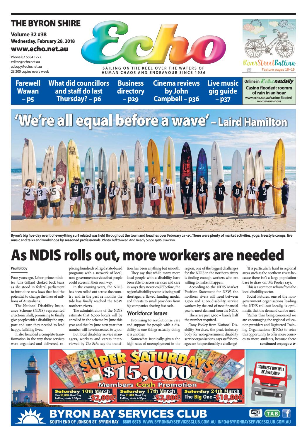 The Byron Shire Echo Issue 3238 February 28 2018 By Scr Circuit Design Http Homemadecircuitsandschematicsblogspotcom Publications Issuu
