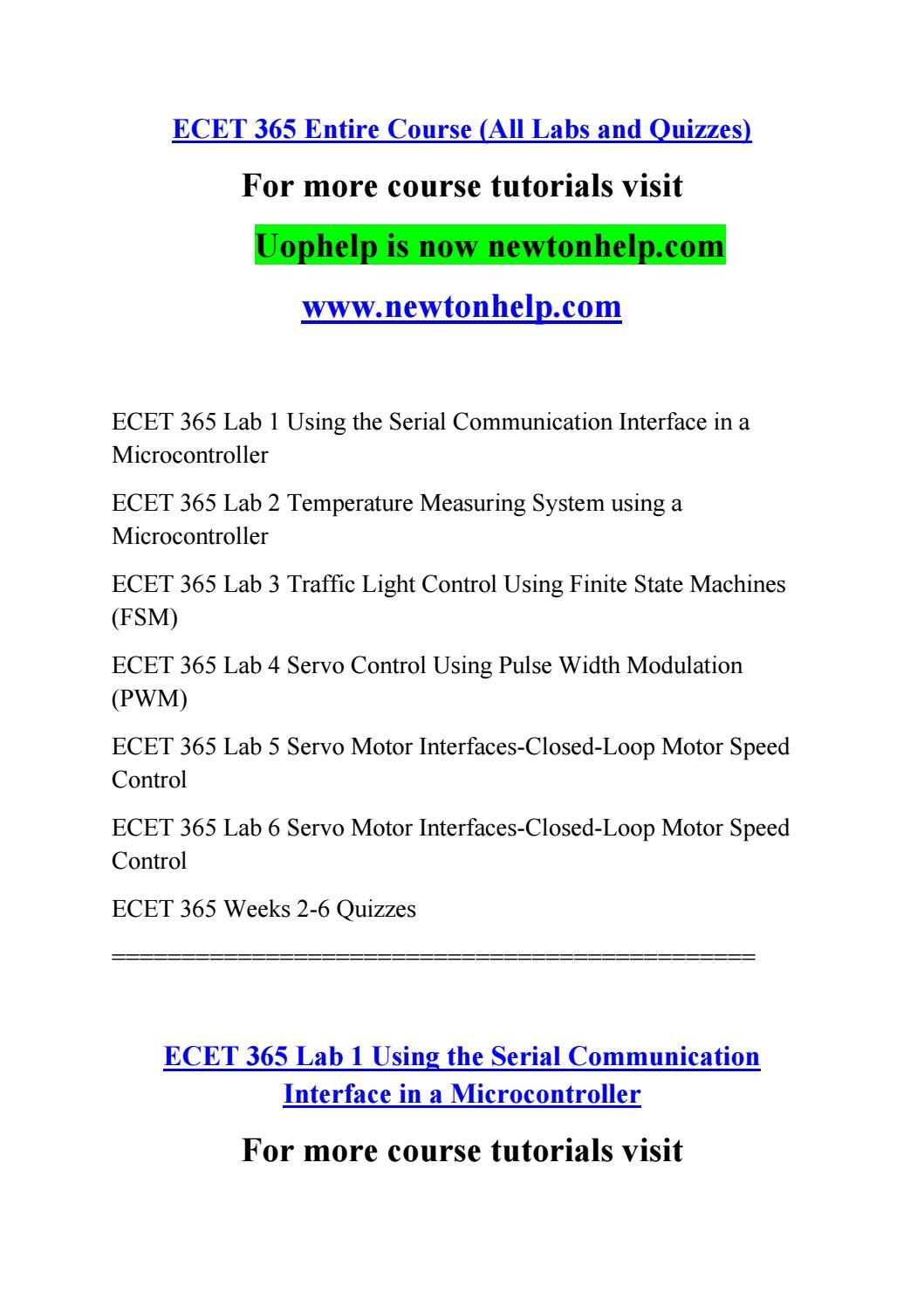 ECET 365 Seek Your Dream /newtonhelp com by thin kmorewor kless99